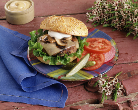 ... burgers grilled beef and mushroom stewed beef wild mushroom and beef