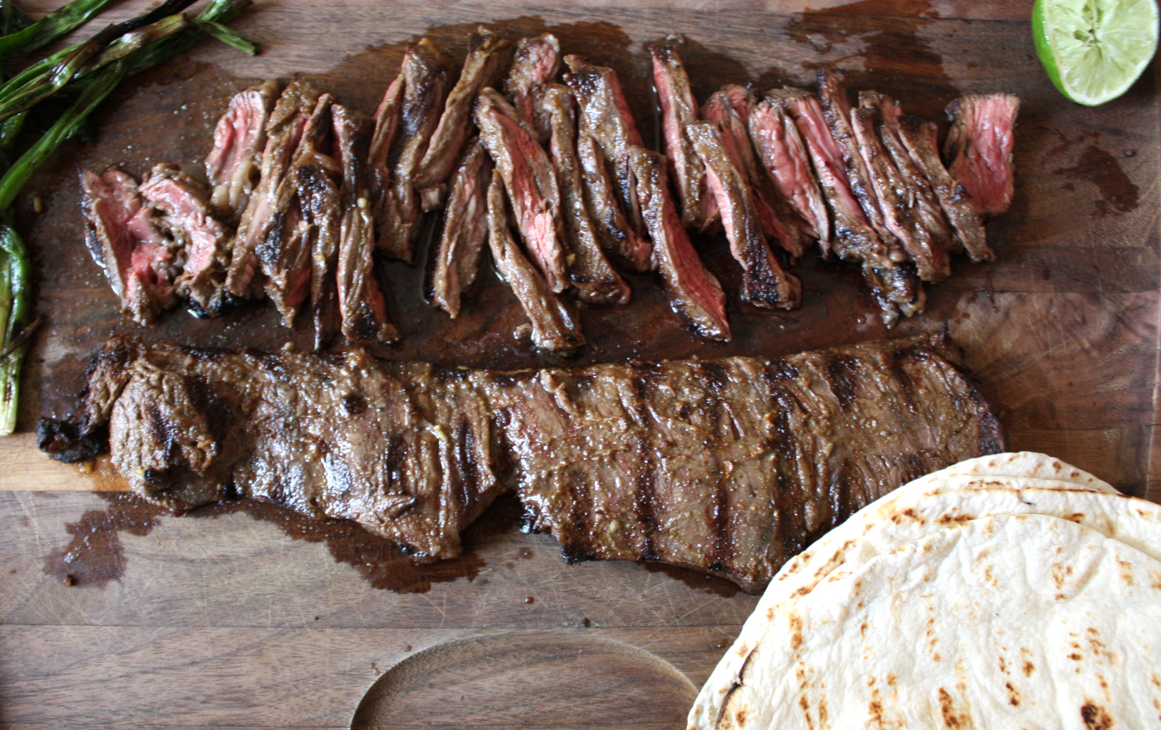 Skirt Steak Tacos With Spicy Sour Cream Recipe — Dishmaps